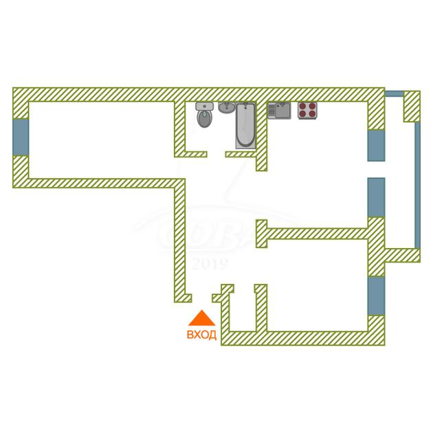 2 комнатная квартира  в районе ул.Елизарова, ул. Холодильная, 15, г. Тюмень