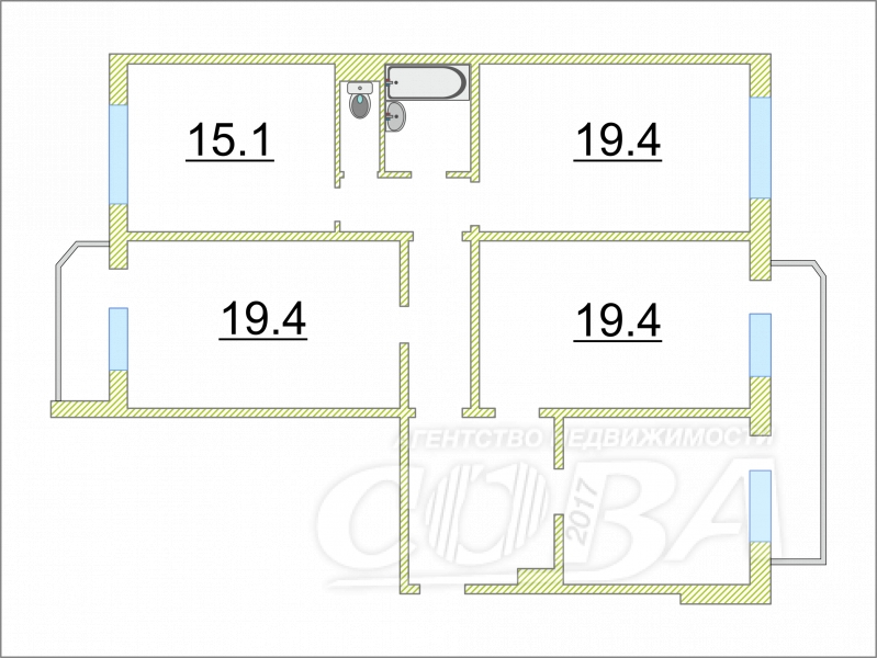 4 комнатная квартира  в 6 микрорайоне, ул. проезд 9 Мая, 7, г. Тюмень