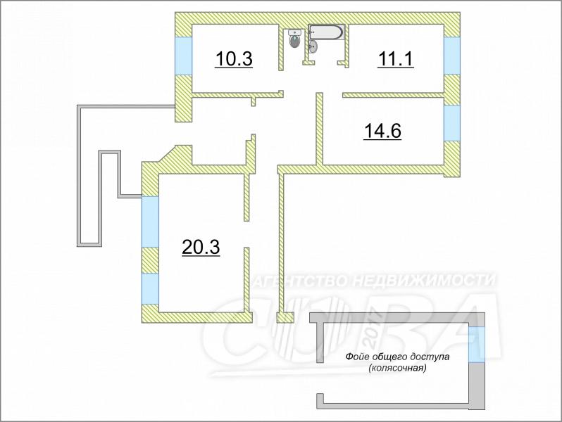 4 комнатная квартира  в районе Южный 2/ Чаплина, ул. Николая Чаплина, 125, г. Тюмень