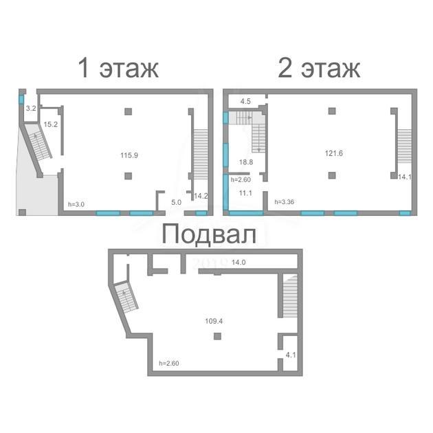 Торговое помещение в отдельно стоящем здании, аренда, в районе Нагорный Тобольск, г. Тобольск
