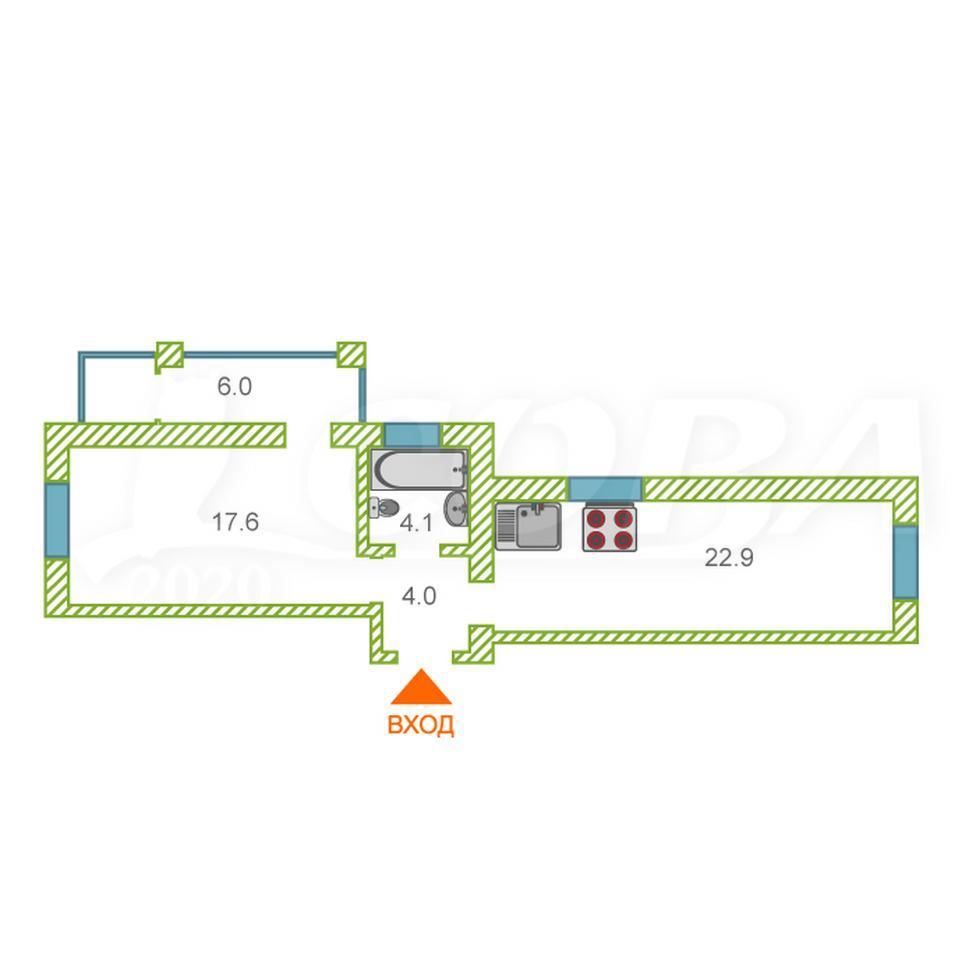 1 комнатная квартира  в районе центральная часть, ул. Мира, 31, Загородный квартал «Шоколад», п. Боровский