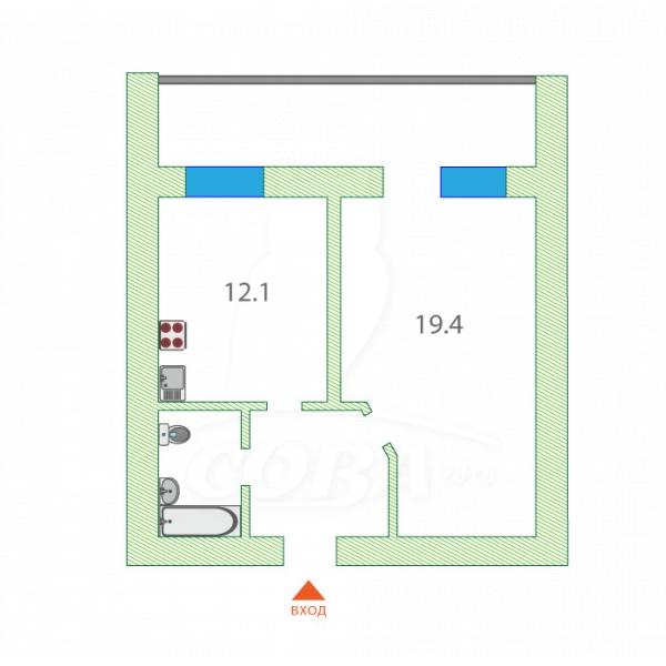 1 комнатная квартира  в районе Маяк, ул. Интернациональная, 140, г. Тюмень