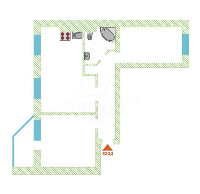 2 комнатная квартира  в Тюменском-2 мкрн., ул. Михаила Сперанского, 27, ЖК «Ямальский-1», г. Тюмень
