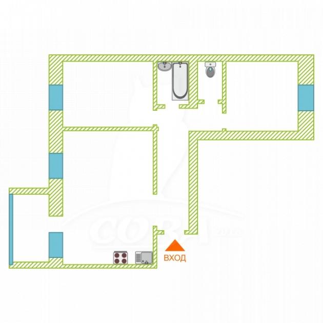 2 комнатная квартира  в районе Московский дворик, ул. Академический проезд, 9, д. Дударева
