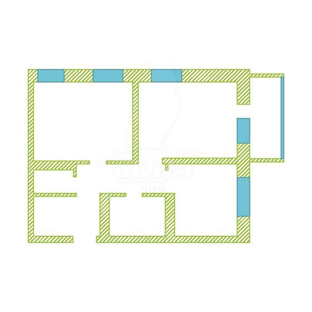 2 комнатная квартира  в Европейском мкрн., ул. Тихий проезд, 2, Микрорайон «Европейский», г. Тюмень