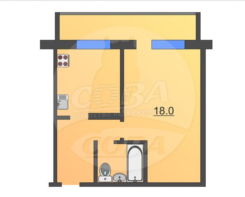 1 комнатная квартира  в 2 микрорайоне, ул. 30 лет победы, 96, г. Тюмень