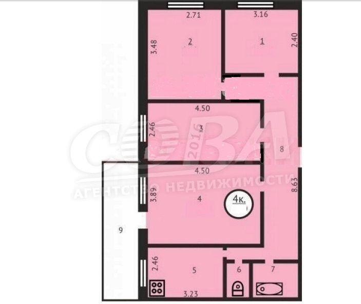 4 комнатная квартира  в районе Югра, ул. Щербакова, 150, г. Тюмень