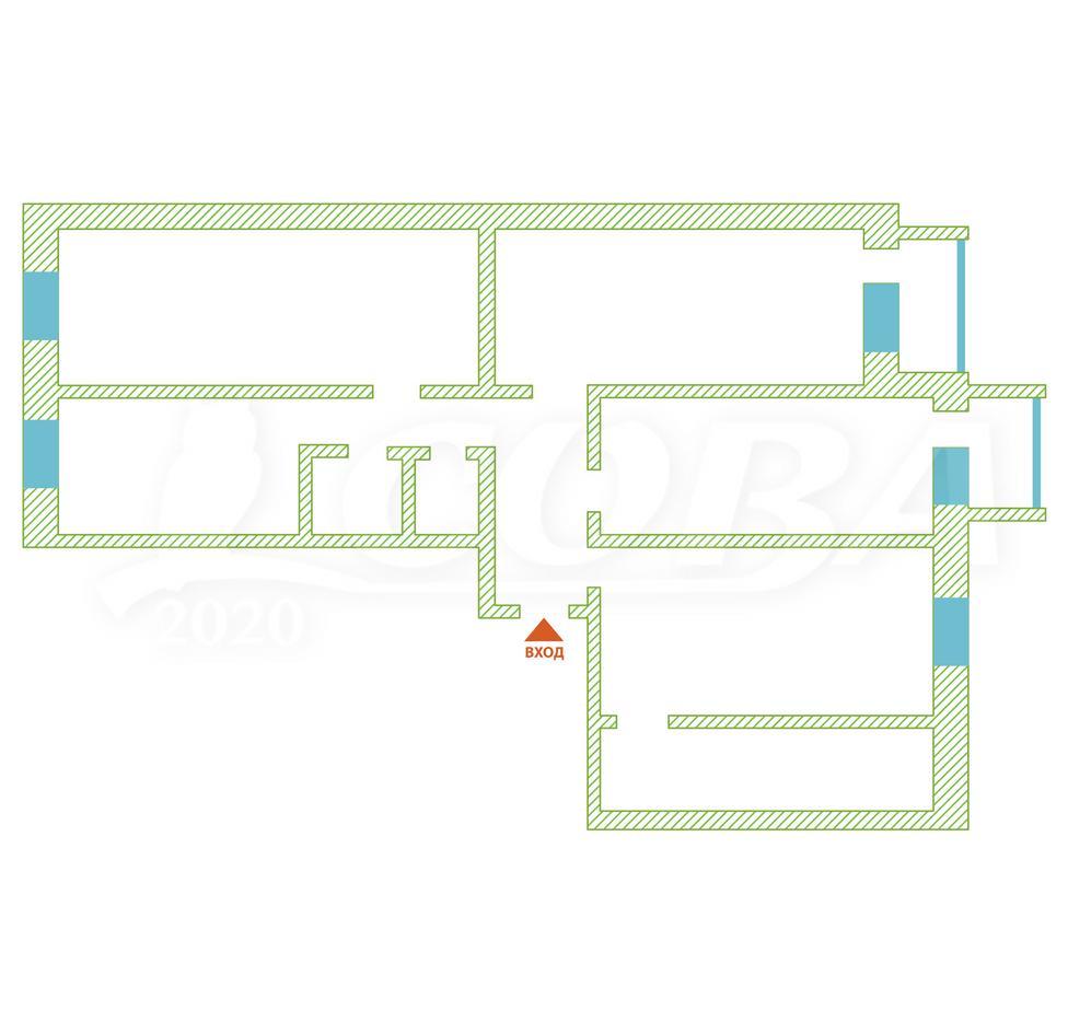 4 комнатная квартира , ул. Школьная, 19, п. Киево