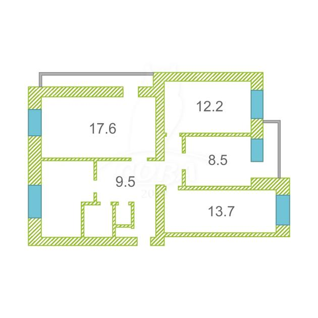 4 комнатная квартира  в Антипино, ул. Буденного, 1А, г. Тюмень