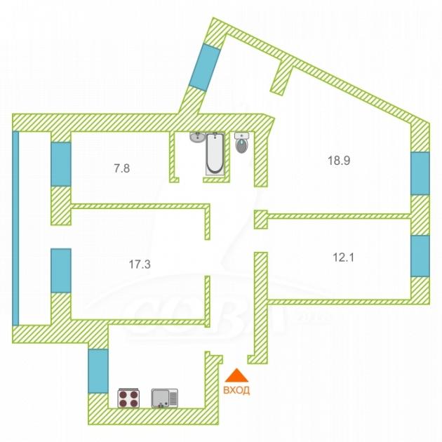 4 комнатная квартира  в районе МЖК, ул. Широтная, 106А, г. Тюмень