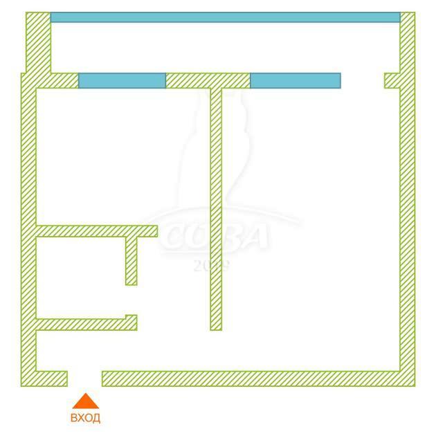 1 комнатная квартира  в районе Лесобаза, ул. Лесопарковая, 15, г. Тюмень