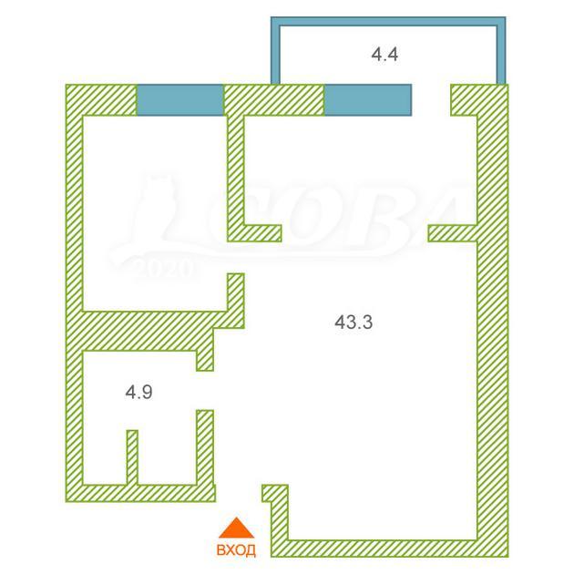 1 комнатная квартира  в районе Лесобаза (Тура), ул. Мебельщиков, 6, Жилой комплекс «Приозерье», г. Тюмень