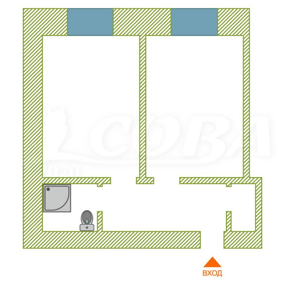 2 комнатная квартира  в районе Энергетиков, ул. Республики, 69, г. Сургут