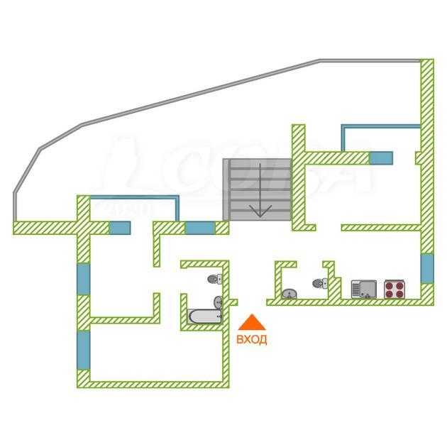 3 комнатная квартира  в Европейском мкрн., ул. Газовиков, 71, Микрорайон «Европейский», г. Тюмень