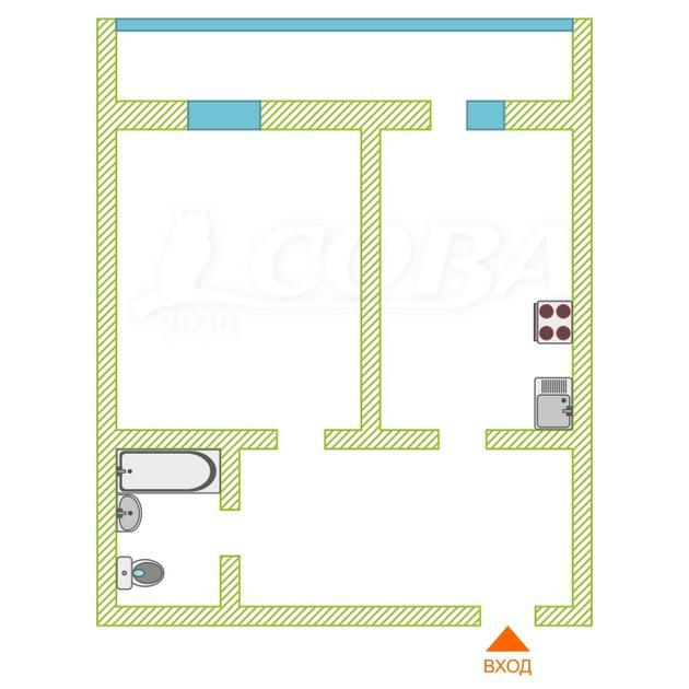 1 комнатная квартира  в районе Нагорный Тобольск, ул. 7-й микрорайон, 37, ЖК «Белый Дом», г. Тобольск