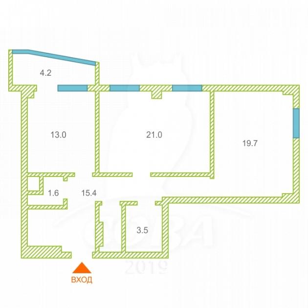 2 комнатная квартира  в Заречном 3 мкрн., ул. Заречный проезд, 39/2, Жилой комплекс «Ривьера», г. Тюмень