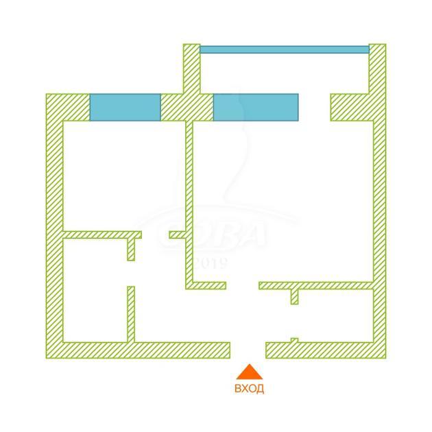 1 комнатная квартира  в районе Ватутина, ул. Ватутина, 79/1, г. Тюмень