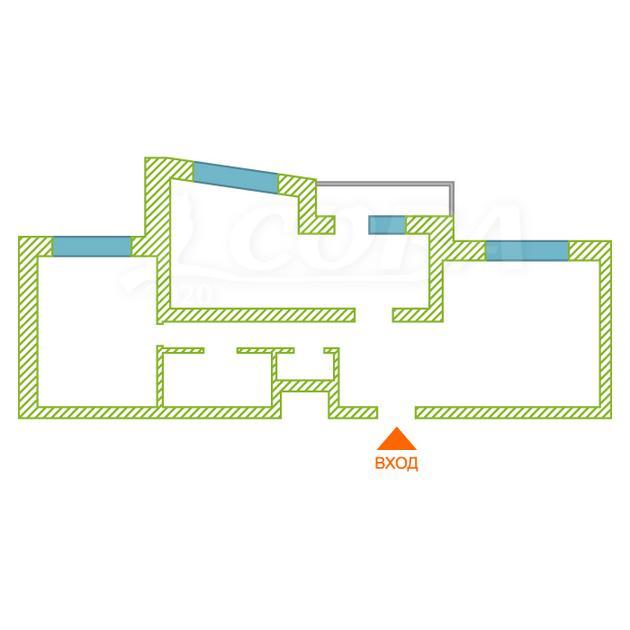 3 комнатная квартира  в районе КПД (Харьковская), ул. Харьковская, 68, Жилой комплекс «Центральный», г. Тюмень