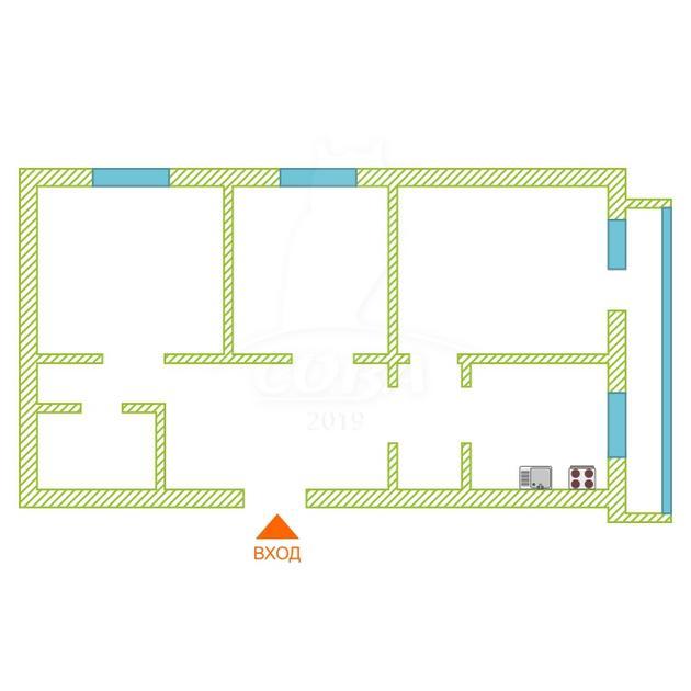 3 комнатная квартира  в районе пос. Утешево, ул. Анатолия Замкова, 12, г. Тюмень