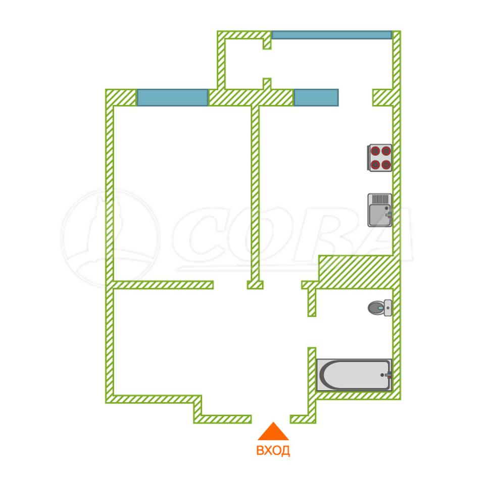 1 комнатная квартира  в районе ТРЦ Аура, ул. Семена Билецкого, 7, Жилищный комплекс «Уютный», г. Сургут