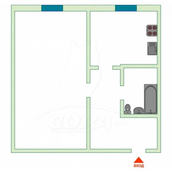 1 комнатная квартира  в районе Выставочного зала, ул. Республики, 169, г. Тюмень