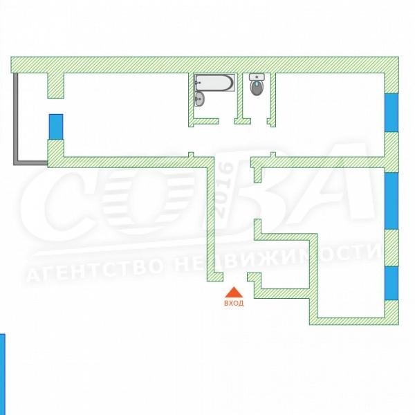 2 комнатная квартира  в районе Лесобаза (Тура), ул. Западносибирская, 28, г. Тюмень