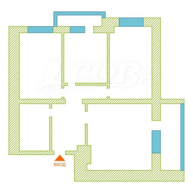 3 комнатная квартира  в историческом центре, ул. Володарского, 19, г. Тюмень