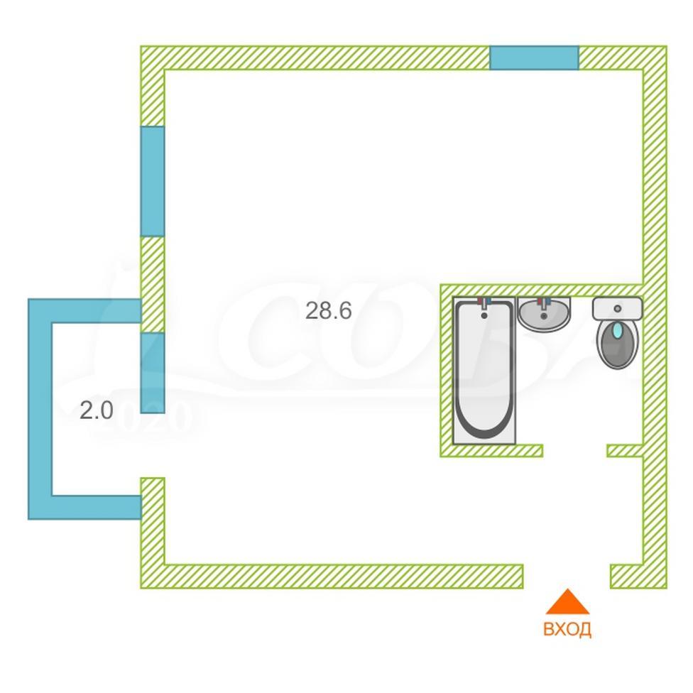 1 комнатная квартира  в районе Донская, ул. Высокогорная, 47, г. Сочи