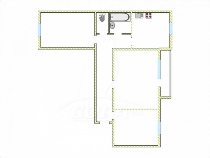 3 комнатная квартира  в районе Югра, ул. Магаданская, 11, г. Тюмень
