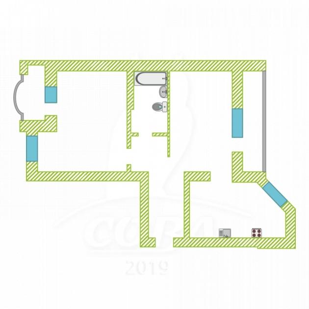 2 комнатная квартира  в районе ЖД Вокзала, ул. Орловская, 50, г. Тюмень