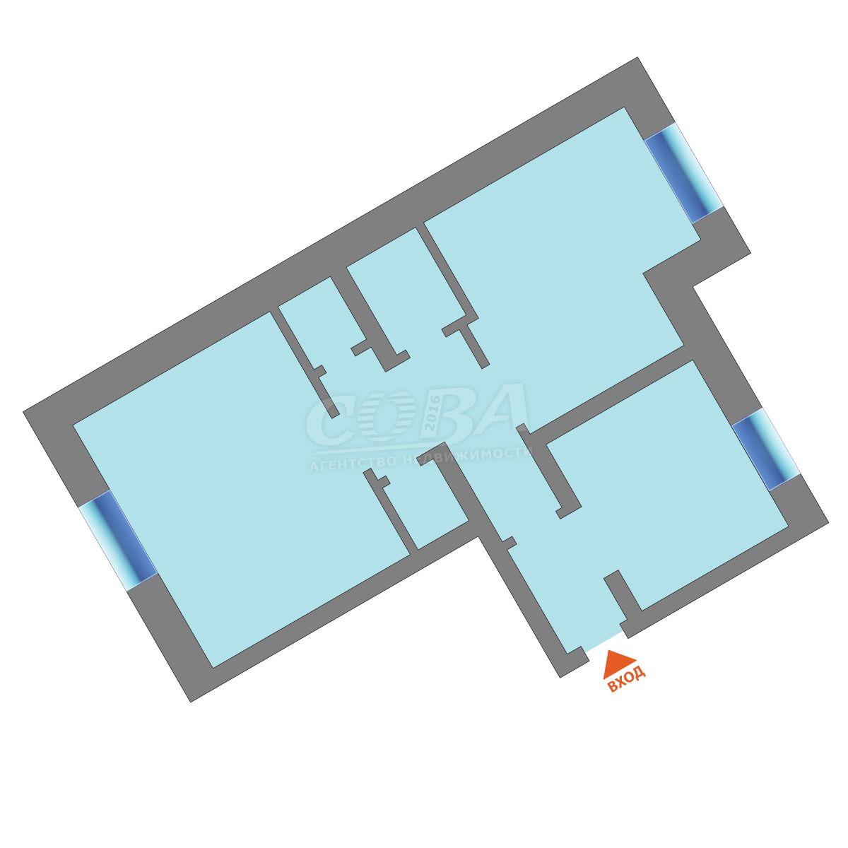 2 комнатная квартира  в районе Драмтеатра, ул. Республики, 94, г. Тюмень