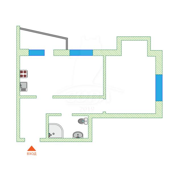 2 комнатная квартира  в Заречном 3 мкрн., ул. Заречный проезд, 39А/1, Жилой комплекс «Ривьера», г. Тюмень