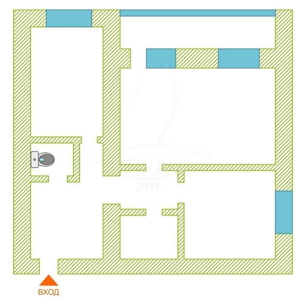 2 комнатная квартира  в 3 микрорайоне, ул. Пермякова, г. Тюмень
