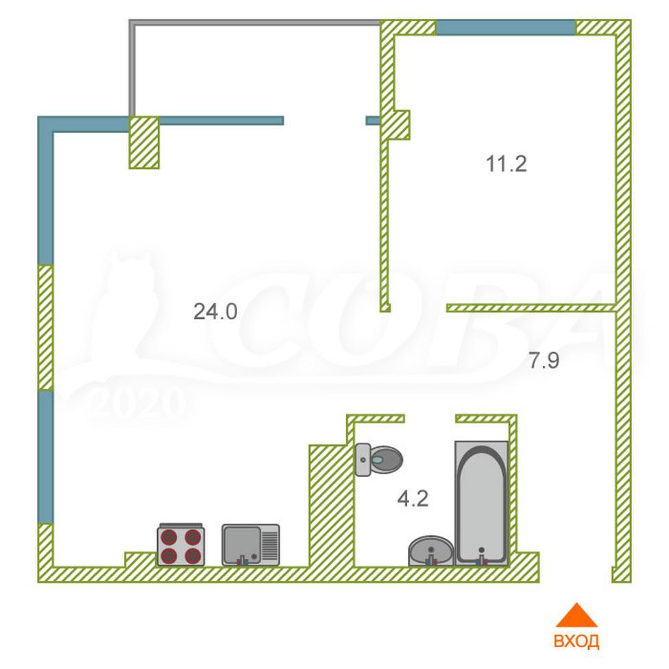 1 комнатная квартира  в районе Донская, ул. Донская, 108А, г. Сочи