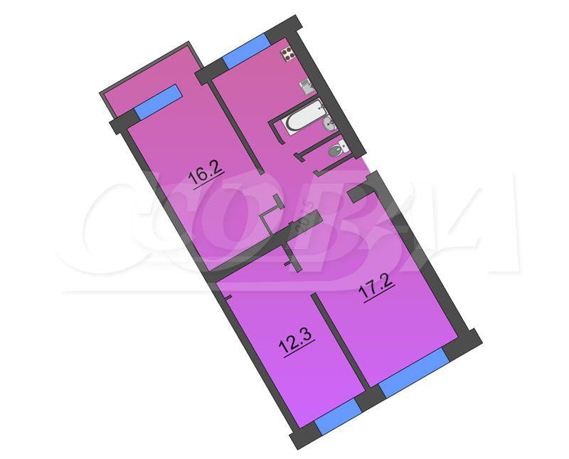 3 комнатная квартира  в районе Метелево, ул. Метелевская, 8, г. Тюмень