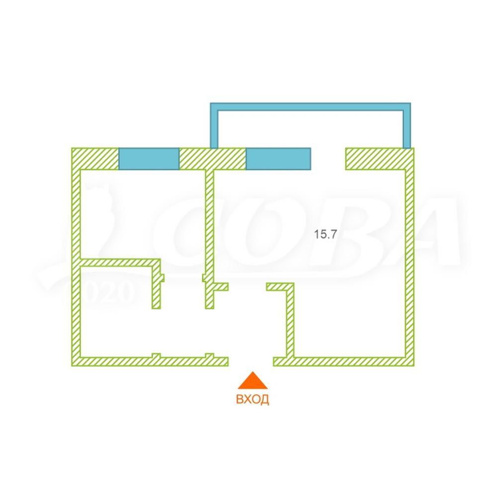 1 комнатная квартира  в районе Нагорный Тобольск, ул. 9-й микрорайон, 23А, г. Тобольск