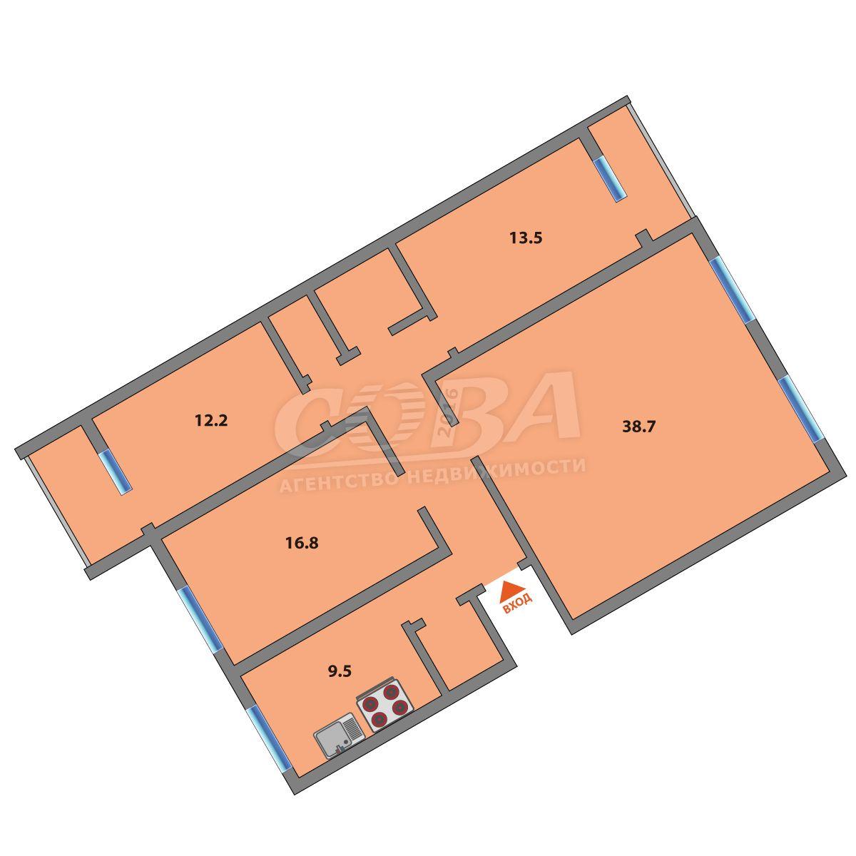 4 комнатная квартира  в районе МЖК, ул. Широтная, 114, г. Тюмень