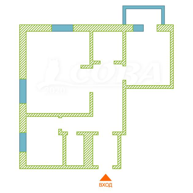 3 комнатная квартира  в районе Нагорный Тобольск, ул. 3Б микрорайон, 6/1, г. Тобольск