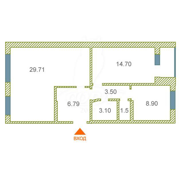 3 комнатная квартира  в районе Лесобаза (Тура), ул. Мебельщиков, 2, г. Тюмень
