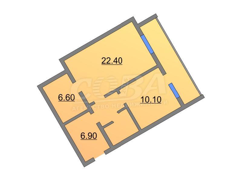 1 комнатная квартира  в районе Технопарка, ул. Минская, 71/1, г. Тюмень