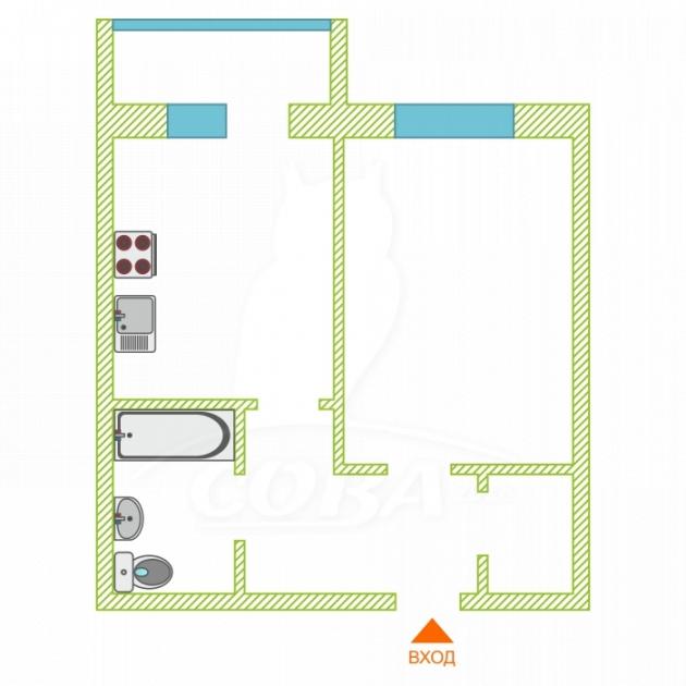 1 комнатная квартира  в районе Тарманы, ул. Газопромысловая, 3, Жилой комплекс «Просторный», г. Тюмень