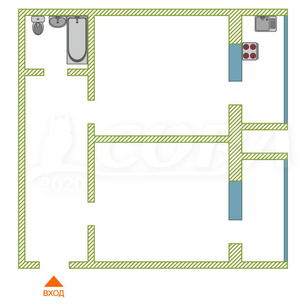 1 комнатная квартира  в районе Технопарка, ул. Мельникайте, 115, г. Тюмень