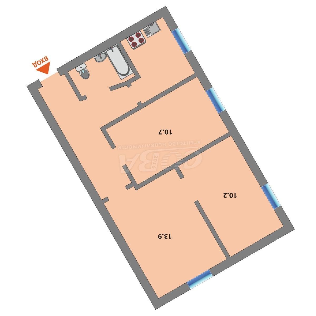 3 комнатная квартира  в районе Нефтегазового университета, ул. Холодильная, 51, г. Тюмень