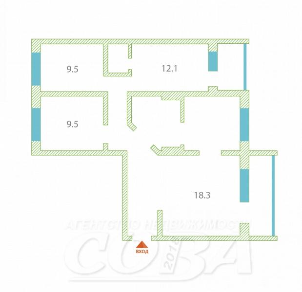 4 комнатная квартира  в районе Нагорный Тобольск, ул. Рощинский переулок, 66, г. Тобольск