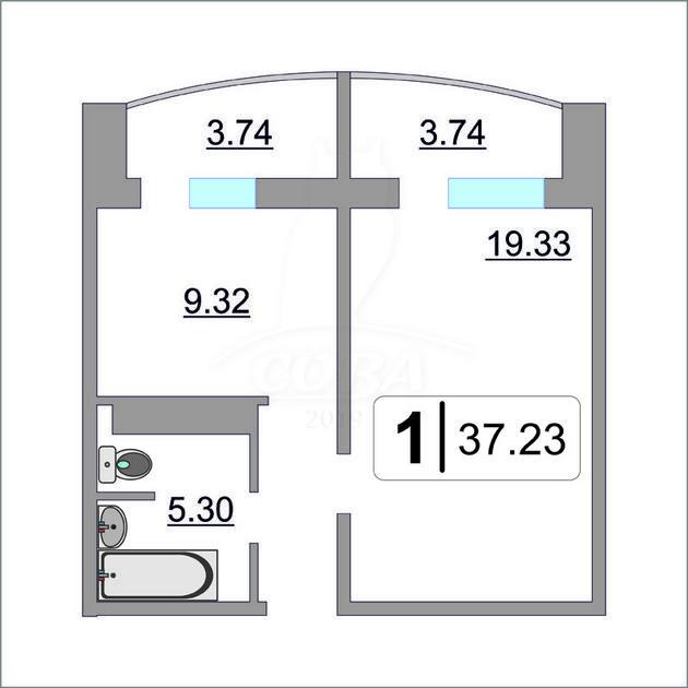 1 комнатная квартира  в районе Ожогина / Патрушева, ул. Павла Шарова, 7, ЖК