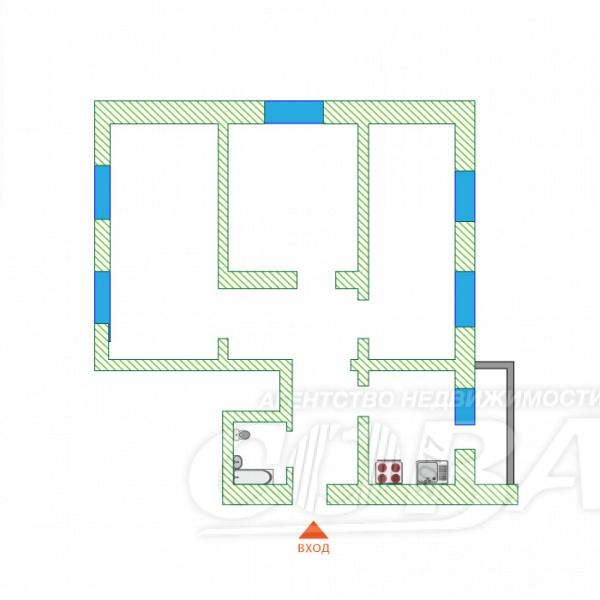 3 комнатная квартира  в районе Дом Обороны, ул. Льва Толстого, 64, г. Тюмень
